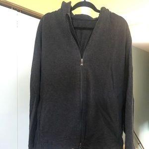Lululemon men's dark gray zip hoodie XL